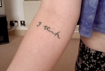 Tattoos / by Allie Biache