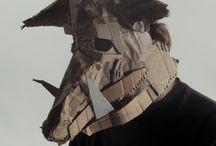 Carton et papier masques