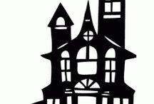 Halloween talot/linnat