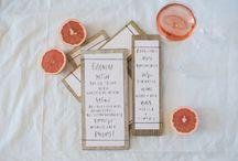 MENU INSPIRATION / Menu inspiration for the Emily Rose Ink bride.