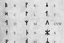 Viking runes alphabet
