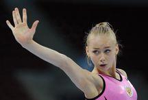 Russische Turnerinnen / Turnen, russische Sportlerinnen