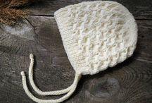 Baby knit hat Bow Beanie wool newborn kids