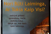 Be Inspired (LT) / A board with inspirational images in Lithuanian Language