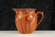 Faux wood Czech pitchers