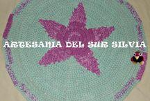 Alfombras - Mantas - Decoración Hogar hecho a mano- Marcapáginas punto de cruz -  Crochet - Artesania del Sur Silvia / Alfombras y decoración para el hogar realizada a mano