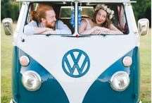 VW Campervan Wedding / Everyone loves the VW Campervan. Here you will find inspiration of how to include the much loved van in your day, from the wedding day transport to quirky cocktail bar, find it all here.
