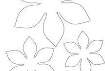 wzory kwiatyi liście