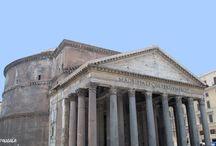 Panteón de Agripa. Años 118-125 dc. Roma. Italia / Photo Travel History Art Architecture Archaeology Fotografía Viajes Historia Arte Arquitectura Arqueología