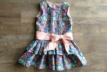 Sweetie Pie Drop Waist Dress, Girl PDF Sewing pattern / Super cute Sweetie Pie Drop waist Dress.