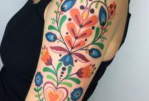 Folk tattoo