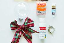Snowman Christmas Ornament Materials