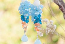 Handmade Earrings / Handmade earrings , Chandelier earrings , Bridal Earrings , Gemstone Earrings