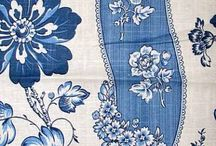 Waverly blue fabric for kitchen family room / Fabrics in blue themes for family room and kitchen