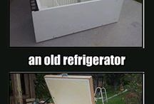 recycled fridge