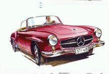 Vintage German Car Adds
