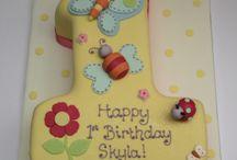 1 st birthday cake girl