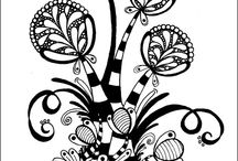Zentangle, Tangle, Doodles, Doodling,  / Zentangle, Tangle, Doodles, Doodling, patterns, tutorial, black and white drawing, micron, pen and ink  / by Deborah Lewis