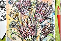 Art Club Student Work / Art Club is a  monthly subscription run by Eni Oken. Art and Zentangle. Learn more at https://www.enioken.com/artclub
