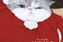 Kattenillustraties