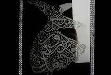 Gravur Technik / echte Handarbeit, islamische Kalligrafie auf Glas