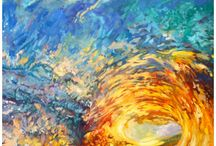 Art Sunset Wave Painting