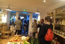 Inauguration de La Petite Cagette / Produits alimentaires bio de saison. 38/40 rue Popincourt Paris 75011