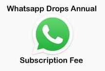 Whatsapp Drops Annual Subscription Fee