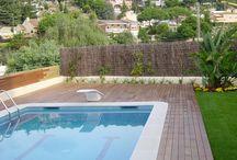 Terraza de Cambrils con tarima de madera natural