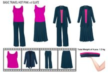 Mix and Match / Mixing and matching to minimize your wardrobe items yet getting the maximum benefit.