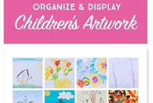 How to organize- Children's artwork