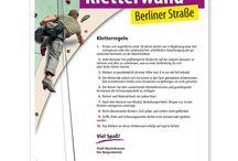 Klettersport Schilder / Schilder zur Kennzeichnung von Klettertürmen, Kletterwänden und Kletteranlagen.