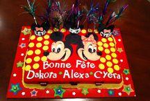 Triplets 5th birthday cake