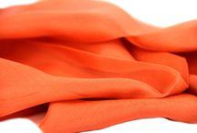 Etole en soie corail