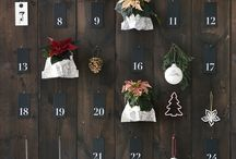 Advent Calender with Poinsettia