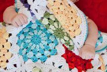 Crochet Blanket. / Bed cloth, granny , baby blanket / by Martha Salazar
