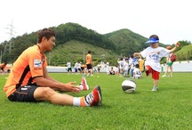 [Together with High1 Resort Gangwon FC Soccer School] / [Together with High1 Resort Gangwon FC Soccer School] ; Photo sketch in the High 1 Ski Resort in Jungsun, South Korea on June 10th, 2013.