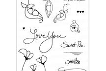 Sweet Pea Stamp Set / Exclusive Designer Collection. Designed by: Lisa Elton