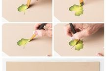 Lær og male blomster