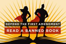 Banned Books Week / A board with posts celebrating Banned Books Week