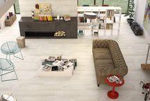 Klinker (Floor tile) Vardagsrum & Hall / Inspiration till miljöer med lite större plattor