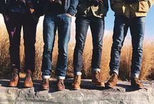 Denim x boots