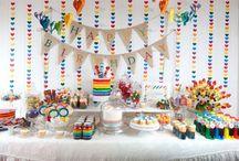 Cumpleaños arcoiris