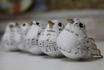 Music sheet birds / Sheet music paper