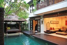 The Amala Residence / 3 bedrooms pool villa Private swimming pool of 9X4 meters Bale bengong (daybed) by the pool side