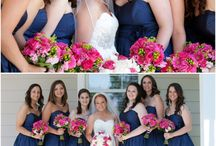 wedding colour navy and pink