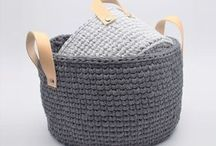 Crochet Laundry Basket