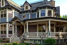Victorian Style Home Exterior / The basic simplicity of this style is contrasted by the decorative handling of the trim on the porches and gables and brackets under the eaves.  These homes were most popular around the turn of this century.