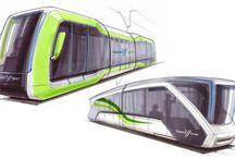 футуристические трамваи