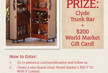 World Market's Pin It to Win It Contest / by Marybeth Mank